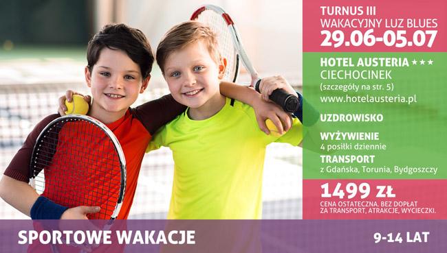 """Turnus III – 29.06-5.07.2018, Hotel AUSTERIA – """"Wakacyjny Luz Blues"""""""